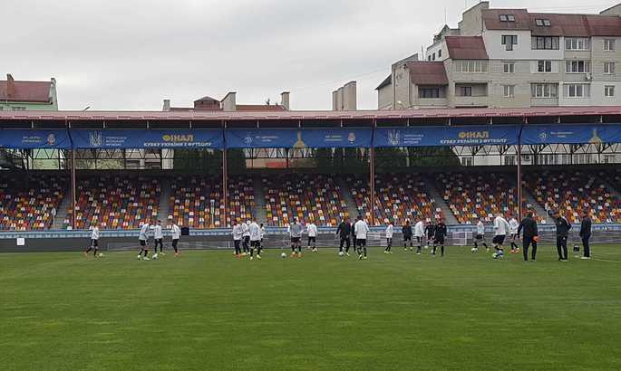 Заря провела утреннюю разминку перед матчем с Динамо