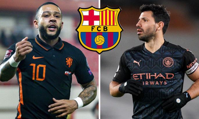 Барселона работает над двумя трансферами: известны детали переходов Агуэро и Депая