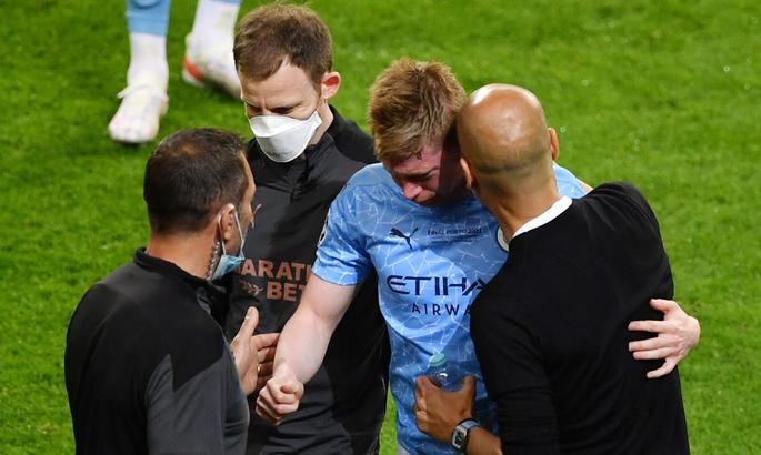Де Брюйне получил травму и в слезах ушел в подтрибунку