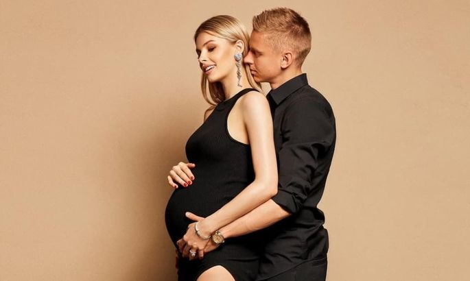 Зинченко в красивом стиле на Олимпийском объявил пол ребенка - ВИДЕО