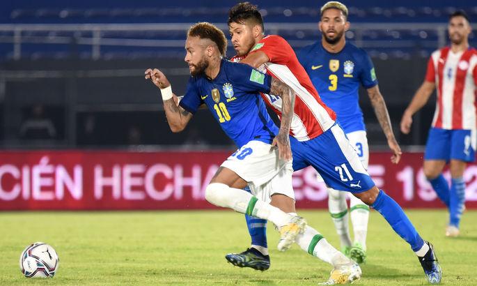 """У Неймара 1+1 по системе """"гол + пас"""". Парагвай – Бразилия 0:2. Обзор матча и видео забитых мячей"""