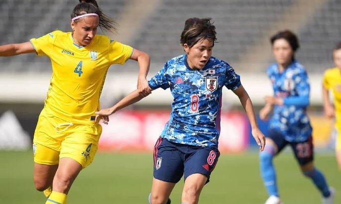Женская сборная Украины проиграла Японии со счетом 0:8