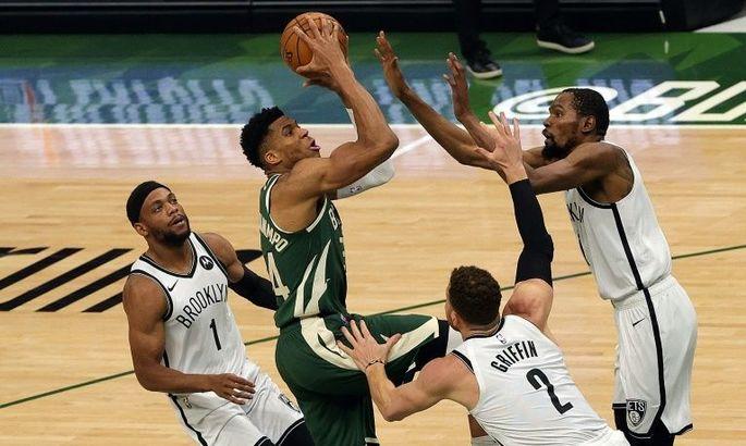 НБА: Милуоки впервые обыграл Бруклин, Юта повела 2:0 в серии с Клипперс
