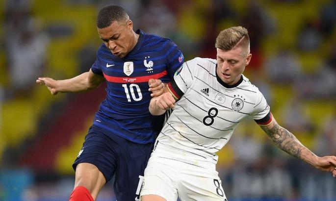 Лев атакует, но капитулирует перед Дешамом. Германия - Франция 0:1. Обзор и видео гола