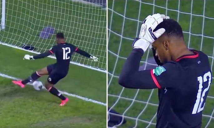 Автогол года? Как неуклюжий вратарь сборной Гаити сам затолкал мяч в ворота в отборе на ЧМ-2022
