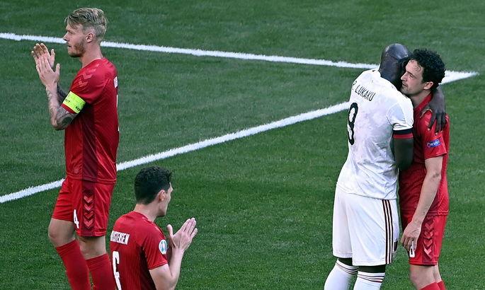 Дания и Бельгия договорились и приостановили матч на 10 минуте