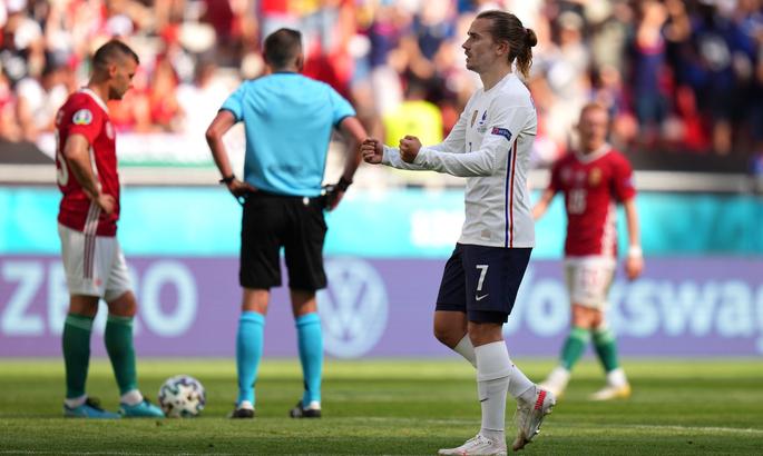 Гризманн забил в 9 матчах за Францию на ЧЕ и ЧМ. Больше у Анри и Платини