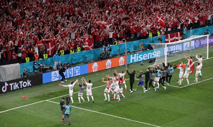 Жены игроков на матче Украины, неудержимая Дания. Лучшие кадры Евро-2020 за 21 июня