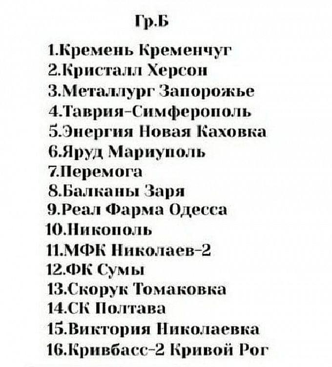 Утвержден предварительный состав участников чемпионата во Второй лиге - изображение 2