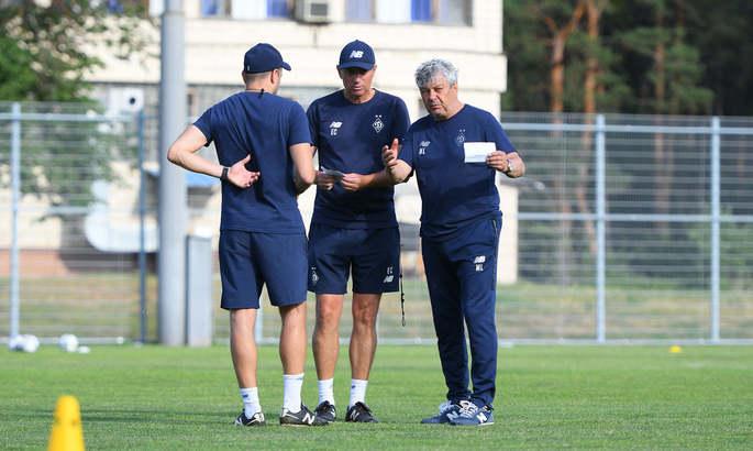 Динамо провело тренировку под руководством Луческу
