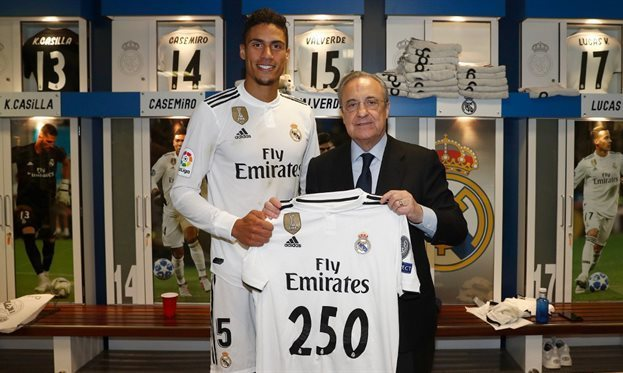 Перес заявил, что Реал не получал предложений по Варану
