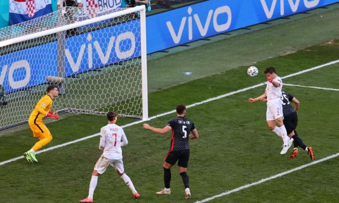 Сезар Аспиликуэта забил первый гол за сборную Испании - вывел вперед в матче с Хорватией