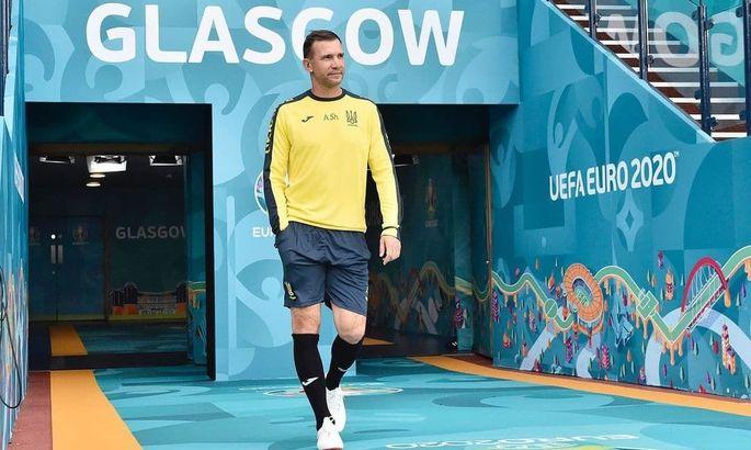 Сборная Украины перед матчем с Швецией потренировалась на Хэмпден Парк - ФОТО