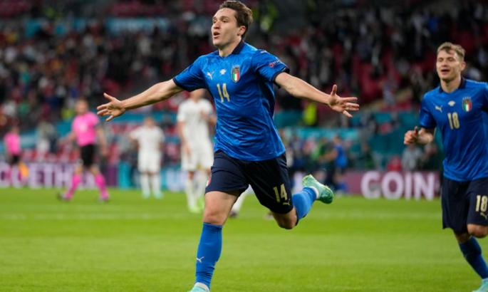 Федерико Кьеза открыл счет в полуфинале Евро-2020 - Италия выигрывает в Испании 1:0