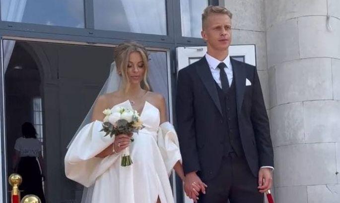 Защитник Динамо женился на своей очаровательной девушке. ВИДЕО