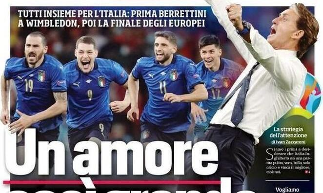 Наказание за официантов, Шотландию и Брекзит. Обзор итальянской прессы перед финалом Евро-2020