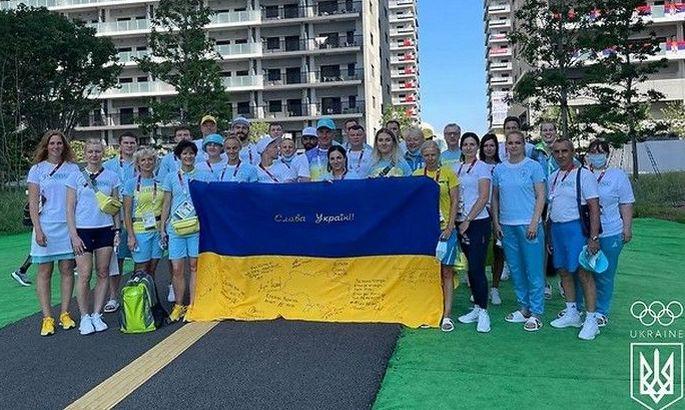 Українська делегація пройшла на церемонії відкриття Олімпіади в Токіо