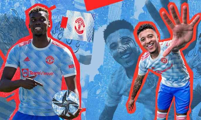 Манчестер Юнайтед показал выездной комплект формы. Она бело-голубая