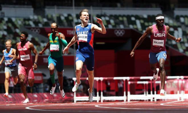 Вархольм побил собственный мировой рекорд и впервые выиграл Олимпиаду