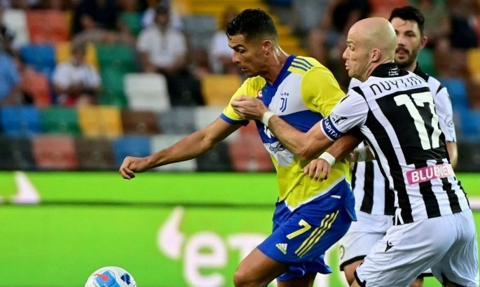 Серия А. Ювентус теряет 2:0 и очки в Удине, гол Роналду на 95-ой минуте отменили