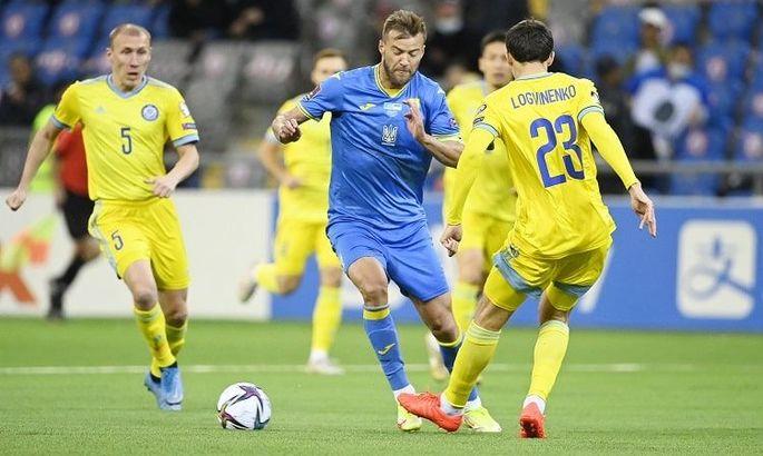 WhoScored и SofaScore назвали Ярмоленко лучшим игроком сборной Украины в матче с Казахстаном