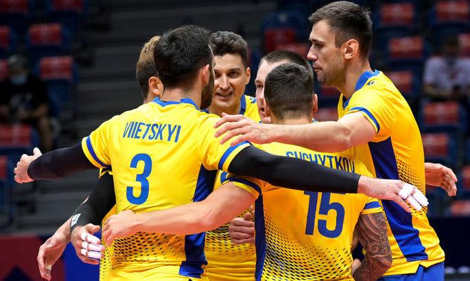Сборная Украины получит 10 млн грн за победу над Россией на Евро-2021 по волейболу