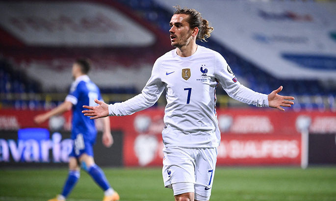 Гризманн догнал Платини по голам за сборную Франции