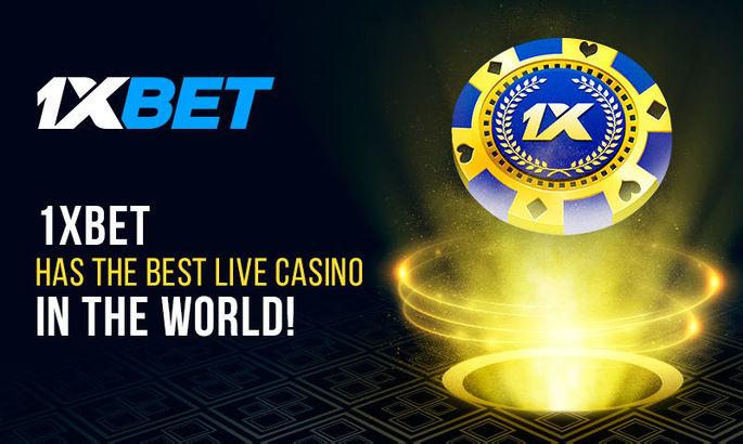 У 1xBet лучшее лайв-казино в мире