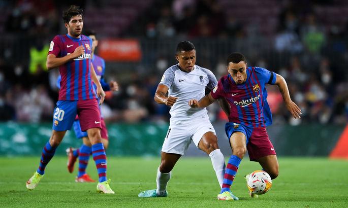 Примера. Барселона - Гранада 1:1. Араухо спасает Кумана от позора