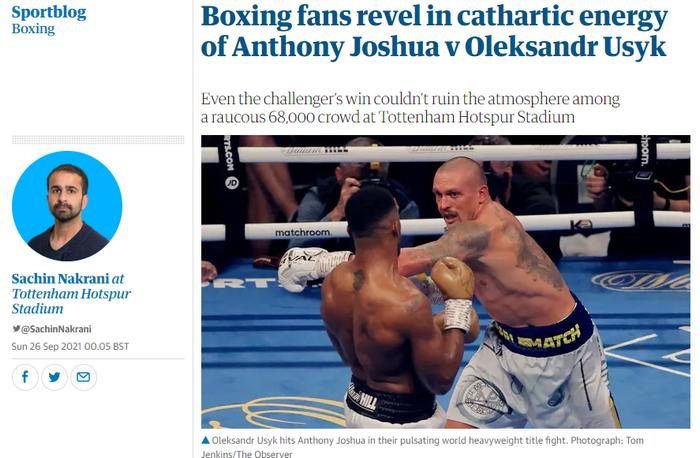 """""""Джошуа потерял свою репутацию"""". Что пишут британские СМИ о триумфе Усика в Лондоне? - изображение 5"""