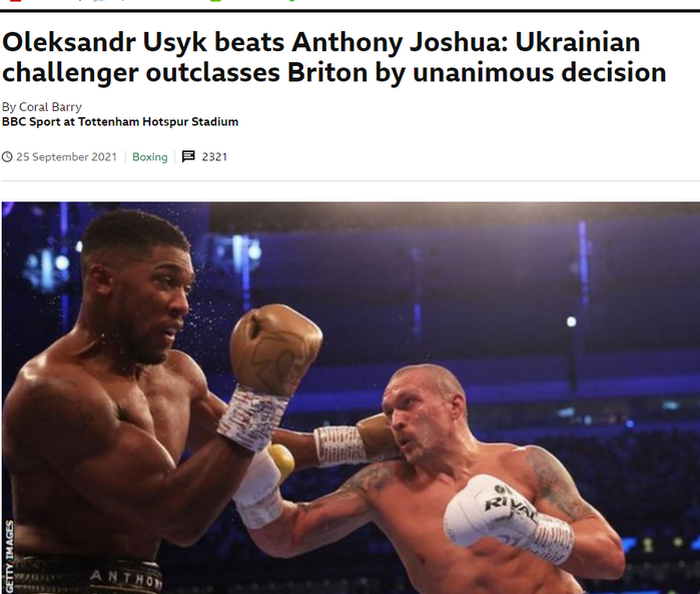 """""""Джошуа потерял свою репутацию"""". Что пишут британские СМИ о триумфе Усика в Лондоне? - изображение 6"""
