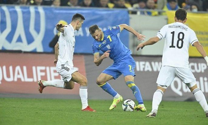Ярмоленко: На победу в матче с Боснией мы не наиграли