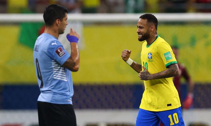 Неймар домінує. Бразилія розгромила Уругвай у матчі відбору до ЧС-2022