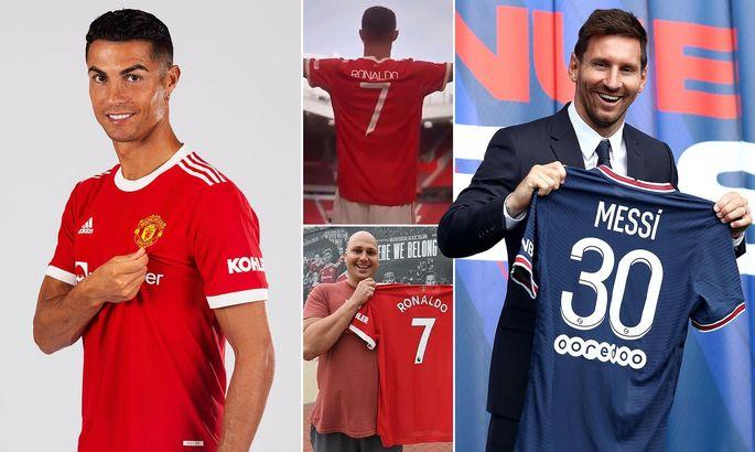Роналду окупил свой трансфер еще до дебюта за МЮ. Футболки Месси продаются почти вдвое медленнее