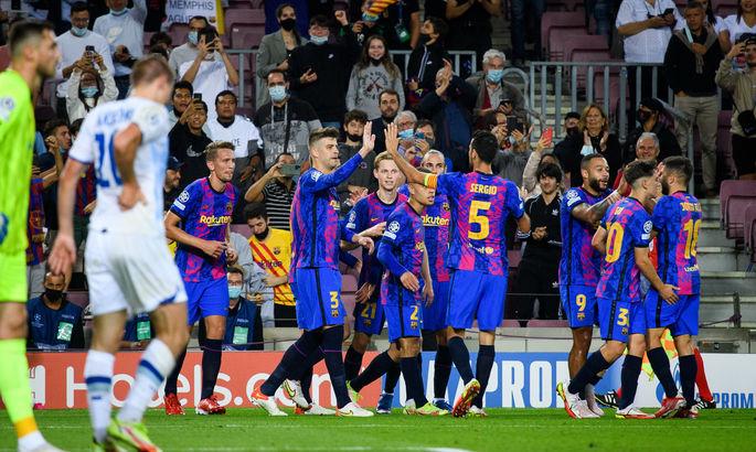 Барселона - Динамо 1:0. Видео гола и обзор матча