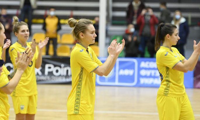 Футзал. Женская сборная Украины с победы стартовала в отборе к Евро-2022