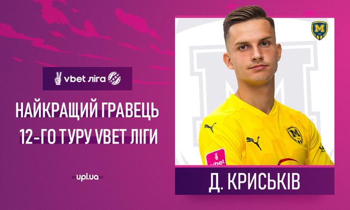 Опередил Цыганкова. Стал известен лучший игрок 12-го тура УПЛ