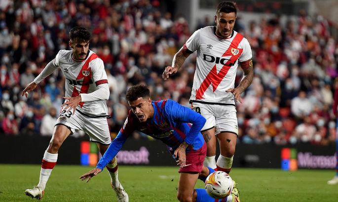 Примера. Райо Вальекано - Барселона 1:0. Не помог даже пенальти