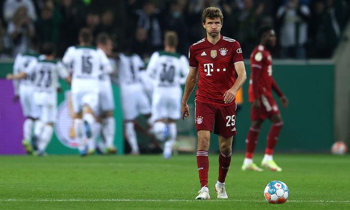 Врожденный хищник в роли жертвы. Видео шокирующего поражения Баварии в Кубке Германии от Гладбаха, 0:5