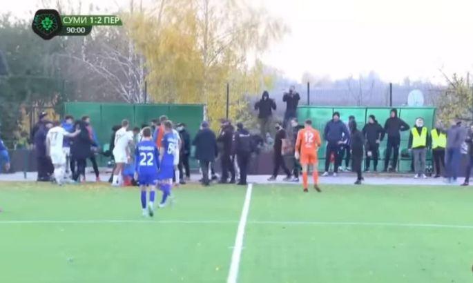 После нападения сумских фанатов пострадало пять игроков Перемоги